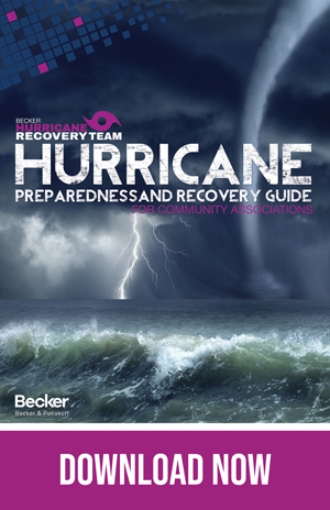 The Cover of Becker's Hurricane preparedness and recovery guide