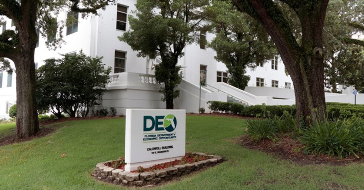 Exterior of the Department of Economic Opportunity building
