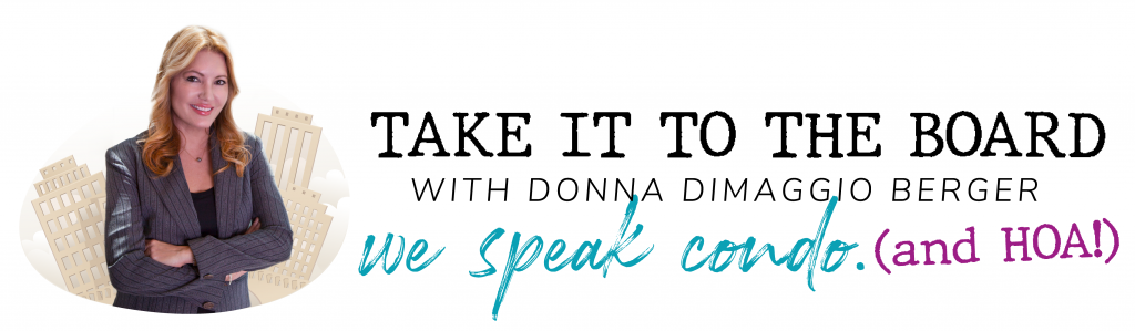 Take it to the board logo with Donna DiMaggio Berger